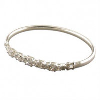 Silver And CZ Bangle