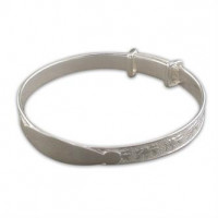 Silver Expanding Identity Bangle