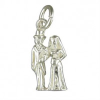 Silver Bride and Groom Charm
