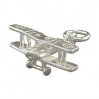 Silver Aeroplane Charm