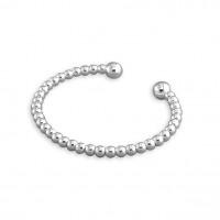 Silver Beaded Baby Torque Bangle CE-R7426