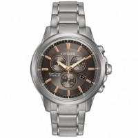 Citizen Eco Drive Titanium Chrono Bracelet Watch AT2340-56H
