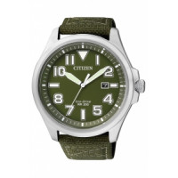 Citizen Eco Drive Military Strap Watch AW1410-32X