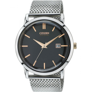 Citizen Mens Eco-Drive Mesh Strap Watch BM7190-56E