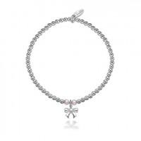 Dollie Sterling Silver Taylor Pink Bow Bracelet B0057