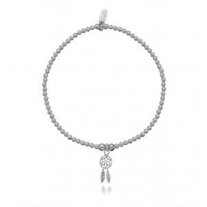 Silver Dollie Dreamcatcher Bracelet B0098