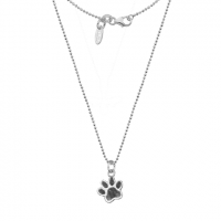 Dollie Sterling Silver Paw Print Necklace N0082
