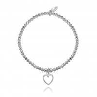Dollie Sterling Silver Annabelle Open Heart Bracelet B0002
