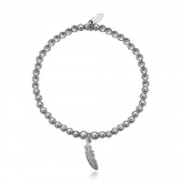 Dollie Sterling Silver Faith Feather Bracelet B0015