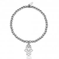 Dollie Sterling Silver Hand of Hamsa Bracelet B0043