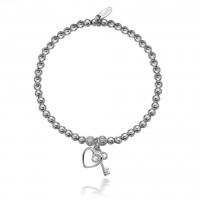 Dollie Sterling Silver Key To My Heart Bracelet B0053
