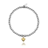 Dollie Sterling Silver Gigi Golden Heart Bracelet B0058