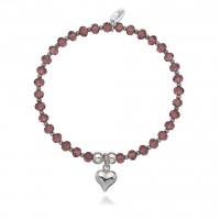Dollie Sterling Silver Gigi Heart  Shimmer Bracelet B0089