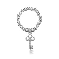 Dollie Sterling Silver Anastasia Key Ring R0007