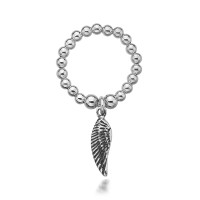 Dollie Sterling Silver Charmeine Angel Wing Ring R0013