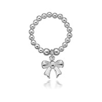 Dollie Sterling Silver Taylor Bow Ring R0015