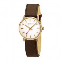Mondaine 30mm Leather Strap Watch - MSE.30112.LG