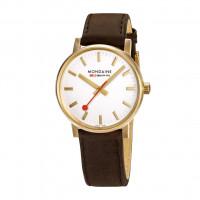 Mondaine 40mm Leather Strap Watch - MSE.40112.LG