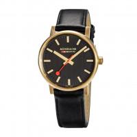 Mondaine 40mm Leather Strap Watch - MSE.40122.LB