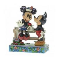 Disney Traditions Enesco Mickey & Minnie Fence Figure 6009969