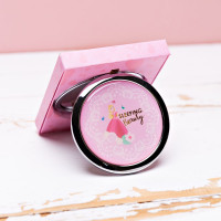 DISNEY SLEEPING BEAUTY GOLD FOIL EMBOSSED COMPACT MIRROR DI762