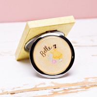 DISNEY BEAUTY & THE BEAST GOLD FOIL EMBOSSED COMPACT MIRROR PRODUCT CODE: DI764