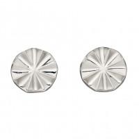 Fiorelli Silver  Diamond Cut Bevelled Stud Earrings (E5889)