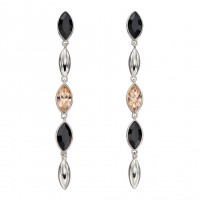Fiorelli Silver Cascade Earrings With Montana And Peach Crystals (E5896)