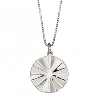 Fiorelli Silver Diamond Cut Bevelled Pendant (P4903)