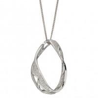 Fiorelli Silver Organic Cage CZ Pendant (P4905C)