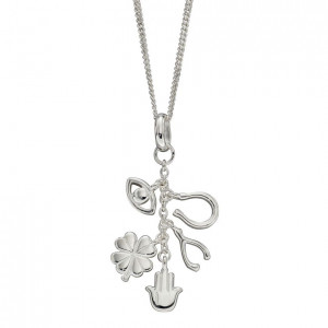 Silver Lucky Charms Pendant & Chain (P4959)
