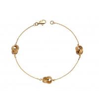 9ct Gold Knot Station Bracelet (GB467)