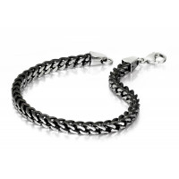 Fred Bennett S/Steel Large Box Link Bracelet B4562