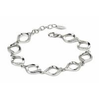 Fiorelli Silver CZ Open Twist Bracelet B4720C
