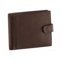 Fred Bennett Brown Leather Wallet with Coin Purse W016