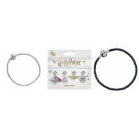 Harry Potter Silver Plated Bracelet & Charm Set - Love Potion, Golden Snitch, Deathly Hallows & 9 3/4