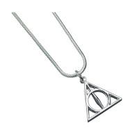 Harry Potter Silver Plated Deathly Hallows Necklace - WN0054