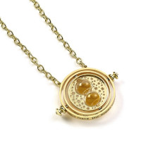 Harry Potter Gold Plated 30mm Spinning Time Turner Necklace- WN0097