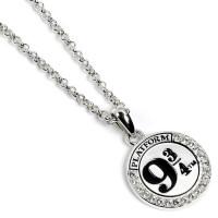 Official Harry Potter Sterling Silver Platform 9 3/4 Necklace Embellished with Swarovski® Crystals  HPSN011