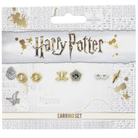 Official Harry Potter Stud Earring Set including Time Turners, Chocolate Frogs, and Glasses with Lightning Bolt earrings WE0106
