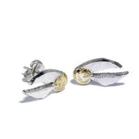Harry Potter Silver Plated Golden Snitch Stud Earrings Earrings- WES004