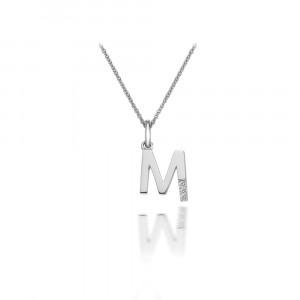 HOT DIAMONDS 'M' Micro Pendant DP413