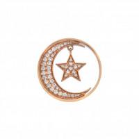 EMOZIONI Notturno Drop Coin - Rose Gold Plate - 33mm EC523