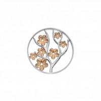 EMOZIONI Fiore Coin - Rose Gold Plate - 33mm EC511