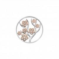 EMOZIONI Fiore Coin - Rose Gold Plate - 33mm EC515