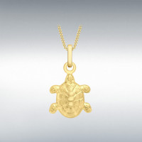 9CT YELLOW GOLD 10MM X 16MM TURTLE PENDANT (No Chain) 1.63.3893