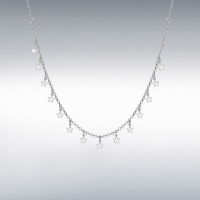 Silver Dangly Stars Necklace IB-8190543