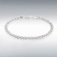 "Silver 3.5mm Spiga Bracelet 7"" IB-8204531"