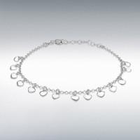 Silver Dangly Hearts Bracelet 8290532