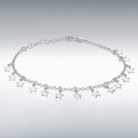 Silver Dangly Stars Bracelet IB-8290542